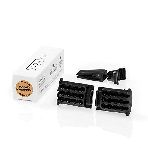 Millefiori Nachfüller für Autoduft, Kunststoff, weiß/schwarz, one Size