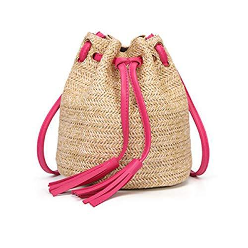 Sommer Strand Tasche Seegras Geflochtene Handtasche Retro Natürliche Schicke Hand Gewebt Handtasche Korb Strohbeutel