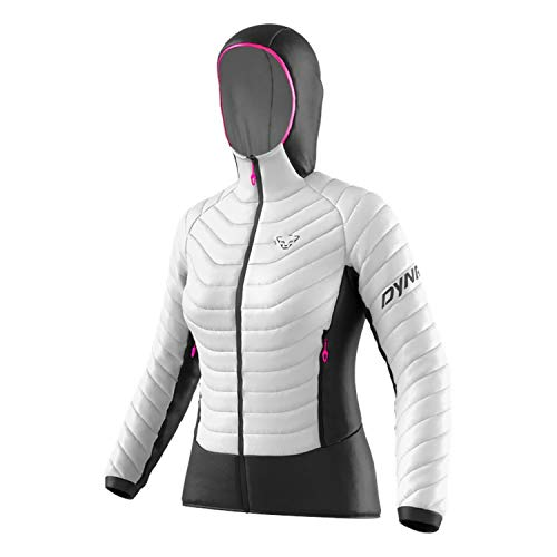 DYNAFIT W TLT Light Insulation Hooded Jacket Weiß, Damen Daunen Winterjacke, Größe M - Farbe Nimbus