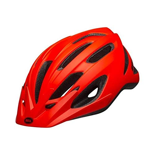 Capacete Ciclismo Bike Bell Crest Mtb Speed Original Viseira (Laranja Neon Avermelhado)