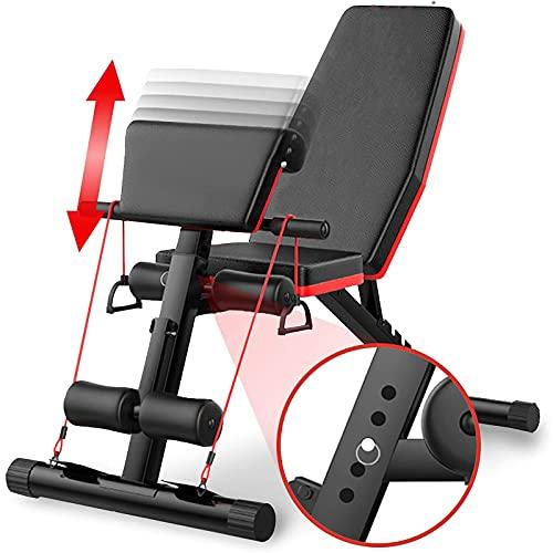 SYBJ Banco De Pesas Ajustable Banco De Musculación Multifunción para Entrenamiento De Cuerpo Completo para Fitness Entrenamiento Profesional con Respaldo