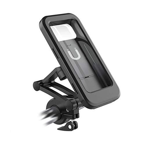 HCFSUK Soporte de teléfono de Bicicleta Impermeable Ajustable Soporte de Montaje de Soporte de teléfono Celular de Manillar de Motocicleta de Bicicleta Universal
