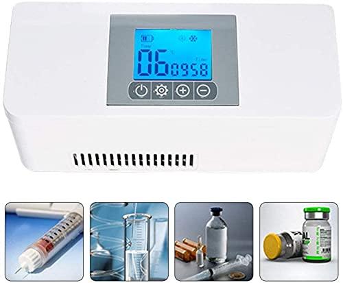 XnalLKJ Mini Nevera, Refrigerador De Insulina, Refrigerador Portátil, Refrigerador, Interferón, Vacuna, Gotas para Los Ojos para Almacenamiento En Frío, Adecuado para Automóvil/Viaje/Avión