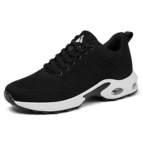 Mishansha Women's Casual Walking Shoes Air Cushion Running Jogging Gym Fashion Sports Sneakers Ultra Light Athletic Training 11 M US Black