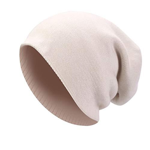 Joven Gorro de Lana Tejido cálido Acogedor Sombrero Calavera Mujer Gorra de Moda Hip Hop