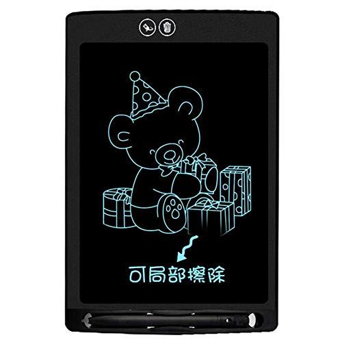Starnearby Doodle Board - Escritorio con Pantalla LCD de 12 Pulgadas para niños, Pizarra de borrado Parcial, antideleción Negro Negro 285.00 * 185.00 * 7.00