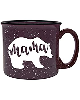 Mama Bear Coffee Mug for Mom Mother Women Wife - Unique Fun Gifts for Her Mother s Day Christmas  Plum