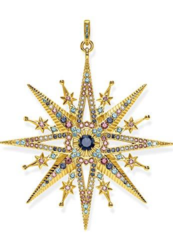 Thomas Sabo PE820-959-7 - Damen Anhänger aus vergoldetem Silber 925 mit Zirkonias Stern