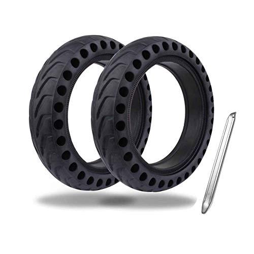 Neumáticos de scooter rueda delantera trasera sólida neumático 8.5 pulgadas antideslizante con palancas de neumático reemplazo para M365 scooter eléctrico 2 unids suministros de bicicleta