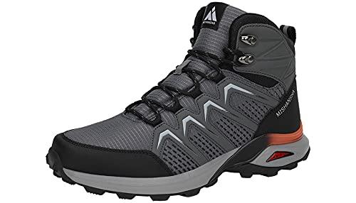 Mishansha Zapatillas Senderismo Hombre Trail Mount Botas Montaña Zapatos Trekking Escalada Deportes de Exterior, Gris 42 EU