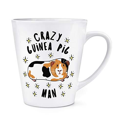 Crazy Cochon D'Inde Homme Étoiles 12oz Latte Tasse Mug