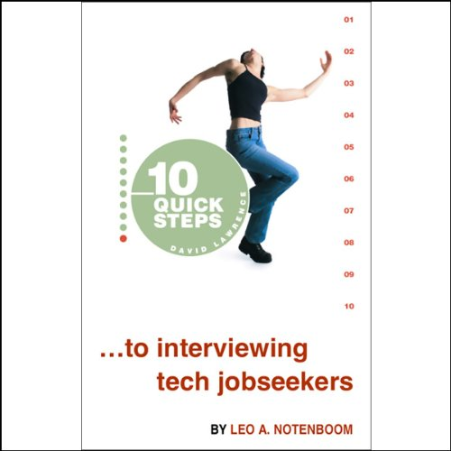10 Quick Steps to Interviewing Tech Jobseekers audiobook cover art