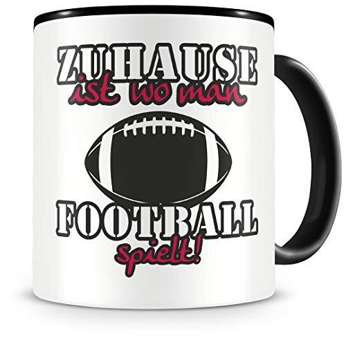 Samunshi® Taza de fútbol con texto en alemán
