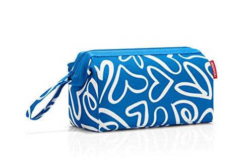 Reisenthel Travelcosmetic Beauty Case, 26 cm, 4 liters, Blu (Funky hearts)