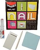 Savarez Kit-s1 Kit reparacion uñas Lima+rollo seda+resinas con aplicador