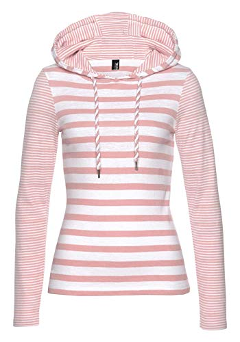 TrendiMax Damen Kapuzenpullover Sweatshirts Gestreift Hoodie Pulli Langarm Pullover 100% Baumwolle