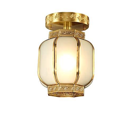 Lámpara de Techo de Montaje en Descarga Luz de Vidrio Congelado LED de Techo Luz de Montaje de Superficie LED Luz de Luz con Linterna Forma de Cobre