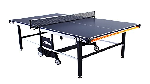 STIGA STS 385 Indoor Competition-Ready Table Tennis Table with Integrated Ball Storage and Premium Clipper Net and Post