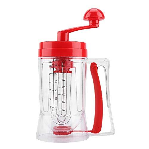 Batter Dispenser - Hand-held Manual Pancake Cupcake Batter Mixer Dispenser Blender Machine Baking Tool