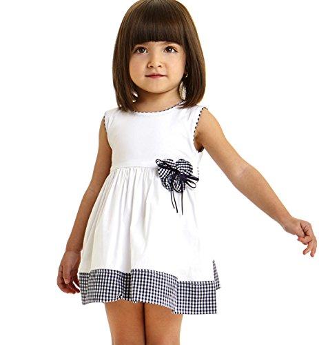 IDO Vestitino Scamiciato per Bambina in Popeline Stretch di Cotone vestibilità da 2 a 6 Anni (2)
