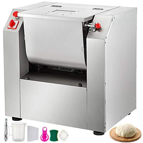 VEVOR 110V Commercial Dough Mixer 25 KG Kneading Capacity 50 Qt Flour Mixer Commercial 2200-Watt...