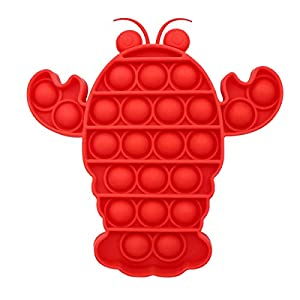 NNFAFA Lobster Bubble Sensory Fidget Toy, Red Color New Type of Fashionable Decompression Toy, for Autism Special Needs Stress Reliever Silicone Stress Reliever Toy (Red)