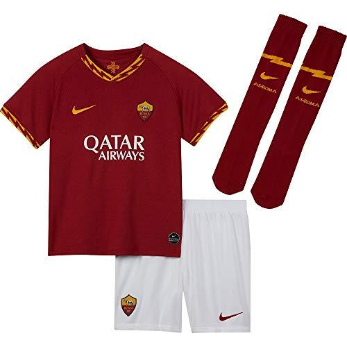AS Roma Minikit Home 2019/20, Nike, Divisa da Calcio, Unisex Bimbi, Rosso, 4-5 Anni