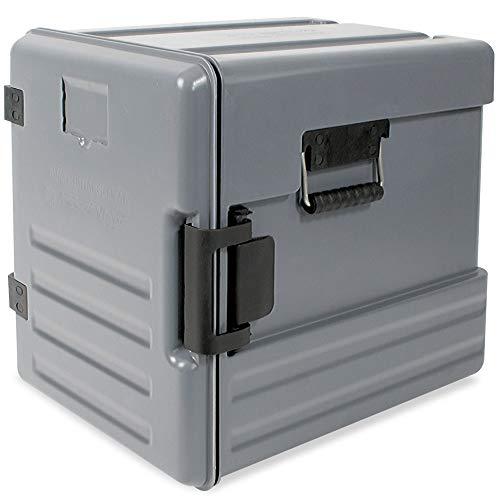 Isolier-Transportbox, -40° bis +100°C, Frontlader, 12 Einschübe, 83 Liter, grau, LxBxH 625x450x575 mm, Polyethylen (PE-HD/EPS)