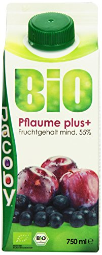 Jacoby Bio Pflaume plus, 8er Pack (8 x 750 ml)