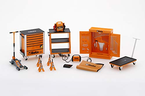 True Scale Miniatures TSM13AC25 - Beta Accessori Garage Tool Kit - Scala 1/18 - Modello da Collezione