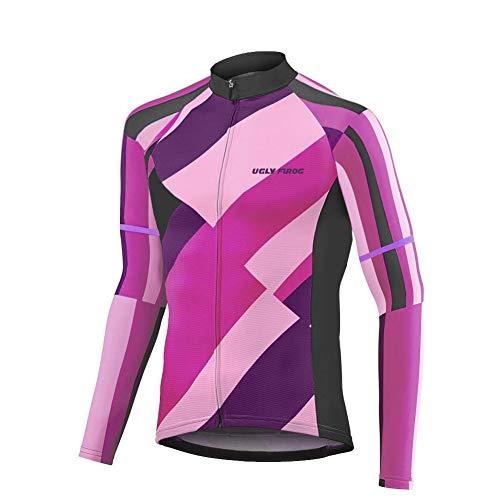 Uglyfrog Manica Lunga Uomini Cycling Jersey Zip Jacket Ciclo Completo Shirt Traspirante Leggero e Comodo Mountain Bike Abbigliamento Top CXMX13F
