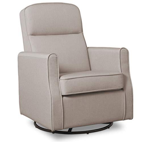 Delta Children Blair  Nursery Glider Swivel Rocker Chair, Taupe