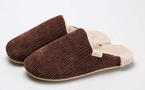 Charm4you Zapatillas de señora Lindas,Pantuflas de Pana de algodón para abrigarse en...