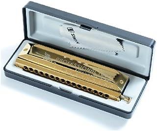 Swan 16 Hole 64 Chromatic Harmonica, Laser Imitation Gold Square