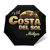 Final Fantasy Visit Costa del Sol Midgar Paraguas Compacto de Apertura y Cierre automático, Plegable, Paraguas de Viaje