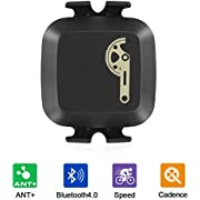 CooSpo Cadence Sensor Bike Speed Sensor Cycling RPM Sensor with Bluetooth 4.0 and ANT+ for Zwift Xoss Openrider, GPS Unit, Sports Watch and others