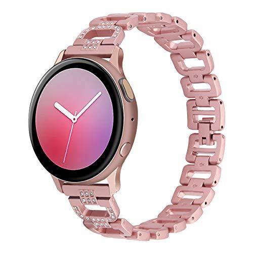 HPTQJ Banda de Reloj de Metal Correa de Acero Inoxidable para Banda de Reloj de Metal 20mm 22 mm Pulsera Día de San Valentín Regalo Regalo cálido (Color : Pink, Size : 22mm)