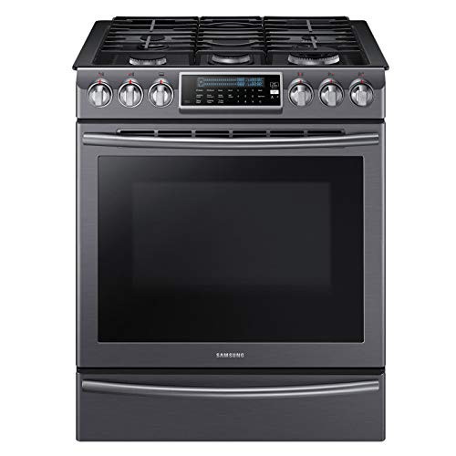 Samsung NX58K9500WG/AA 5.8 cu. ft. Slide-In Gas Range with Convection Black Stainless- Refurbished