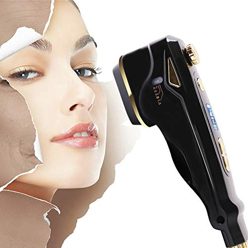 Mini 3 in 1 HIFU Anti Aging Face Lifting Device, Household Facial Care Beauty Machine for Home Use Skin Rejuvenation, Neck Wrinkle Removal, Whitening, Skin Tightening Device