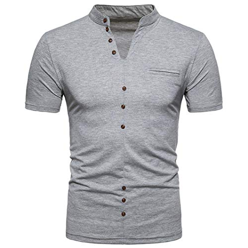 Willlly Shirts Mens Zomer V-hals Korte Casual Chic Tshirt Mouw Slim Fit Effen Kleuren Mode Casual Sport Beweging Tee Tops