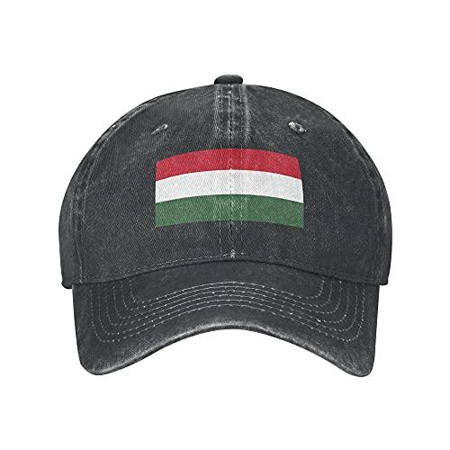 N \ A Ungarn Erwachsene Baseball Cap Klassische Unisex Verstellbare Sportmütze Cowboyhut Hip Hop Cap Schirmmütze für Männer Frauen, Schwarz , 7/7 3/8