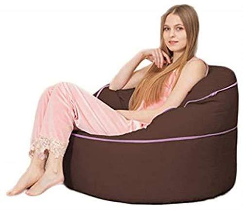 Canapé lit LHY- Lazy Sofa Bean Bag Creative Living Room Tatami réglable Chambre Balcon Sac de Loisirs Computer Bean Chaise Simple Petit Tatami Sofa Doux (Color : Dark Brown)