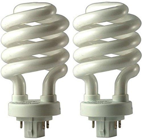 EiKO 05252 Model SP26/27-4P Compact Fluorescent Spiral Light Bulb, 26 Watts, GX24q-3 Base, T-4 Bulb - 2 Pack
