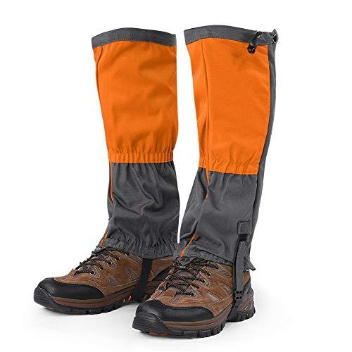 Tbest Wandern Gamaschen,1 para Unisex Schnee Bein Gamaschen Outdoor wasserdichte Sportstiefel Gamaschen Wandern Wandern Klettern Jagd Radfahren Leggings Abdeckung für Erwachsene(orangefarben)