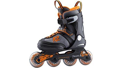 K2 Jungen Velocity JR Boys Inlineskate - Schwarz-Grau-Orange - M (32-37 EU; 13-4 UK; 1-5 US) - 3050900.1.1.M