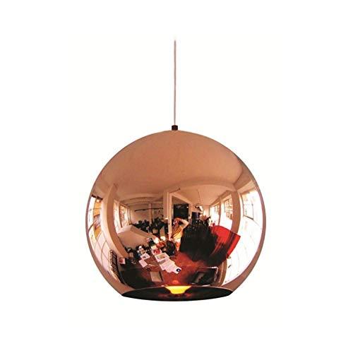 Modernes Design Glas Bubble Ball Pendelleuchte E27 LED Birne Kupfer Spiegel Kronleuchter Deckenleuchte Pendelleuchte Glas Ball Beleuchtung, 30 CM