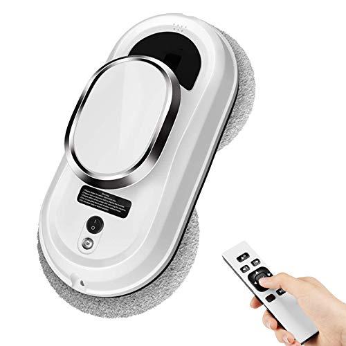 YIHAO Robot Nettoyeur de Vitres Électrique, Nettoyeur Vitre pour Nettoie Les Fenêtres Difficiles D accès, Laveur de Vitres avec Aspiration Extra-Puissante, Télécommande et 3 Système de Sécurité