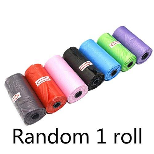 5Roll (15pcs / rollo) Acepta recoger la basura bolsa de basura Ambiental for mascotas bolsa degradable materiales Mini WC productos del perro del impulso del perro Bolsas, Random 1 rollo, 6 x 2,5 cm B