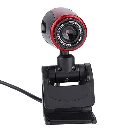Cámara Web USB 2.0 HD, cámara USB giratoria de 360 ° con micrófono Digital Incorporado, cámara para computadora portátil con Lente óptica