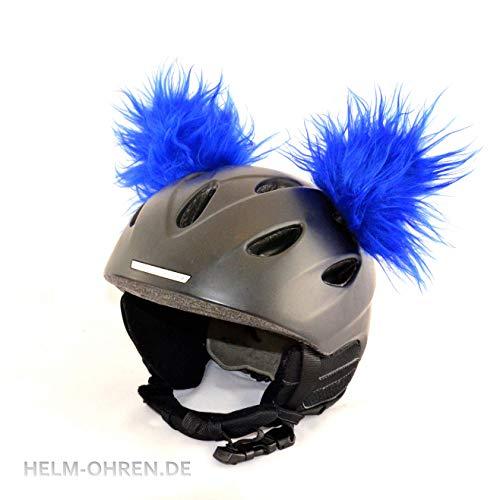 Helm-Ohren für den Skihelm, Snowboardhelm, Kinder-Helm, Kinder-Skihelm, Motorradhelm oder Fahrradhelm - verwandelt den Helm in EIN EINZELSTÜCK - für Kinder und Erwachsene HELMDEKO (Blau)